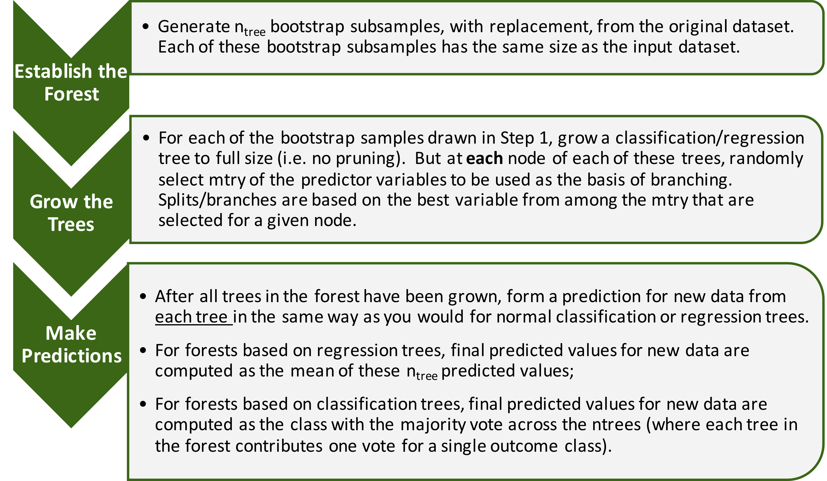 Surveying the Forests and Sampling the Trees: An overview of